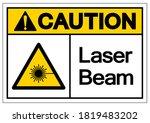 warning laser beam symbol... | Shutterstock .eps vector #1819483202