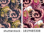 abstract trendy hand drawn...   Shutterstock .eps vector #1819485308