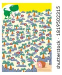help the dinosaur to find a... | Shutterstock . vector #1819502315