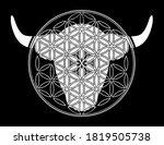 ornamental taurus zodiac star...   Shutterstock .eps vector #1819505738