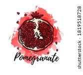 illustration of pomegranate... | Shutterstock .eps vector #1819518728