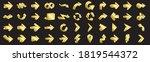 3d arrows pictograms vector set.... | Shutterstock .eps vector #1819544372