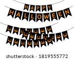 halloween flag bunting hanging... | Shutterstock .eps vector #1819555772