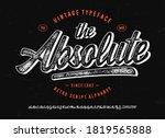 original brush script font ...   Shutterstock .eps vector #1819565888