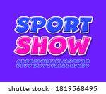 vector event poster sport show  ... | Shutterstock .eps vector #1819568495