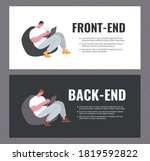 front end and back end...   Shutterstock .eps vector #1819592822