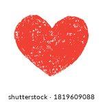red grunge heart.dirty heart... | Shutterstock .eps vector #1819609088