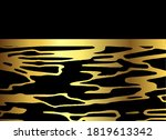 abstract luxury gold and black... | Shutterstock .eps vector #1819613342