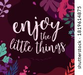 beautiful life and faith quotes ... | Shutterstock .eps vector #1819614875