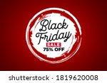 black friday banner sale ... | Shutterstock .eps vector #1819620008