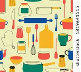 kitchen tools  kitchenware....   Shutterstock .eps vector #1819641515