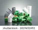 Group Of Plastic T Tube...