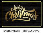 merry christmas lettering on a... | Shutterstock .eps vector #1819659992