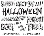 set of scary words. spooky...   Shutterstock .eps vector #1819672355
