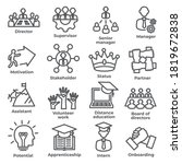 leadership line icons on white... | Shutterstock .eps vector #1819672838