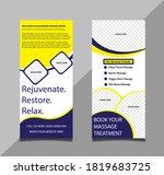 spa beauty salon rack card... | Shutterstock .eps vector #1819683725