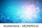 science network pattern ... | Shutterstock .eps vector #1819690112