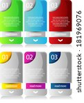 web banners with number options | Shutterstock .eps vector #181969076