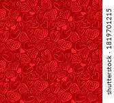 heart shapes seamless pattern... | Shutterstock .eps vector #1819701215