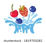 different bright berries fall... | Shutterstock .eps vector #1819703282