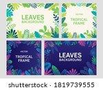 set of frames template tropical ... | Shutterstock .eps vector #1819739555