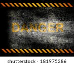 under construction with yellow... | Shutterstock . vector #181975286
