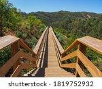 Wooden Long Footbridge Or...