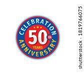 50th Years Birthday Badge Logo...