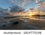 Sunset At The Atlantic Ocean...