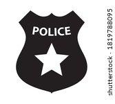 police badge black and white ...   Shutterstock .eps vector #1819788095