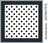 vintage black white polka dots... | Shutterstock .eps vector #1819847972