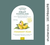 label and packaging of pear... | Shutterstock .eps vector #1819866698