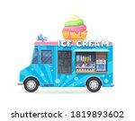 ice cream food truck  isolated... | Shutterstock .eps vector #1819893602