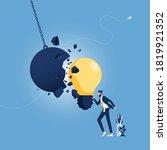 strong creative idea metaphor... | Shutterstock .eps vector #1819921352