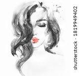 Beautiful Woman. Illustration....