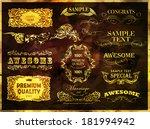 calligraphic design elements   Shutterstock . vector #181994942