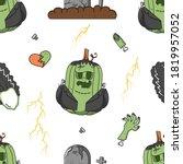 seamless vector halloween...   Shutterstock .eps vector #1819957052