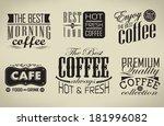 retro  typography  coffee shop  ... | Shutterstock . vector #181996082
