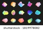 liquid holographic chameleon... | Shutterstock .eps vector #1819978082