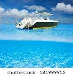 Beautiful Beach And Motor Boat...