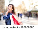 shopping woman happy and... | Shutterstock . vector #182000288