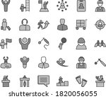 thin line gray tint vector icon ... | Shutterstock .eps vector #1820056055