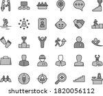 thin line gray tint vector icon ... | Shutterstock .eps vector #1820056112