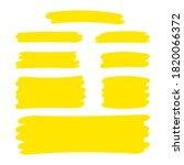 yellow stripes brush paint for... | Shutterstock .eps vector #1820066372