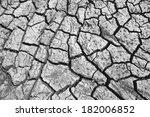 dark cracked ground | Shutterstock . vector #182006852
