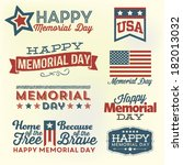 Happy Memorial Day Vector Set ...