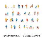 people flat vector set. crowd.... | Shutterstock .eps vector #1820133995