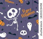 abstract seamless halloween... | Shutterstock .eps vector #1820223458