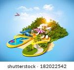 Tropical Resort On Flip Flops....