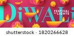 diwali hindu festival greeting... | Shutterstock .eps vector #1820266628
